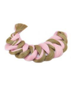 Канекалон, волосы искусственные для плетения 2-х цветные, розово-русые, 24 / II PINK, 100 см, 165 г