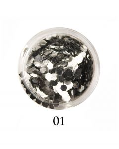 ADORE Декор для ногтей DIAMAND 01 (серебро)