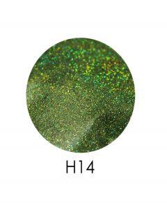 ADORE голограммный глиттер H14, 2,5 г (салатовый, голограмма)