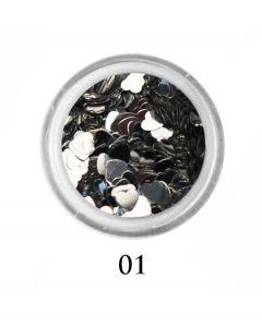 ADORE Декор для ногтей Сердце 01 (серебро)