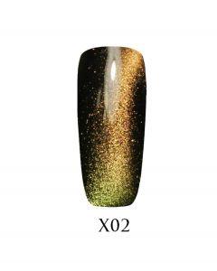 Гель-лак ADORE Galaxy Cat`s Eye Х02 7,5 мл.