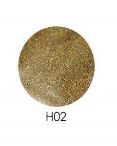 ADORE голограммный глиттер H02, 2,5 г (золото, голограмма)