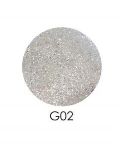 ADORE зеркальный глиттер G02, 2,5 г (белое серебро)