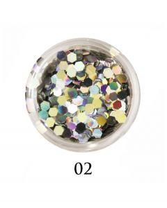 ADORE Декор для ногтей DIAMAND 02 (голографическое серебро)