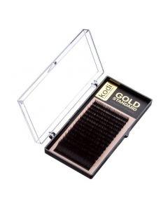 Ресницы KODI B 0.03 (16 рядов: 6-1; 8-2; 9-2; 10-3; 11-3; 12-3; 13-1 mm), упаковка Gold Standard