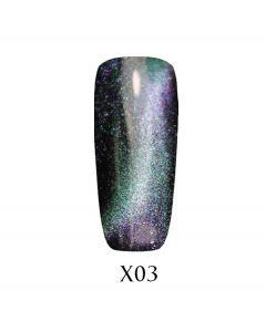 Гель-лак ADORE Galaxy Cat`s Eye Х03 7,5 мл.