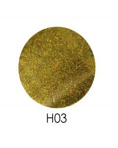 ADORE голограммный глиттер H03 2,5 г (яркое золото, голограмма)