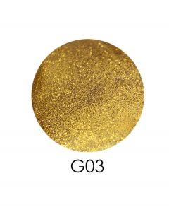 ADORE зеркальный глиттер G03, 2,5 г (желтое золото)