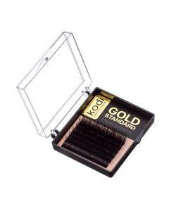 Ресницы KODI B 0.03 (6 рядов:6-1,7-1,8-2,9-2,), упаковка Gold Standard
