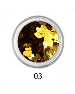 ADORE Декор для ногтей Сердце 03 (золото)