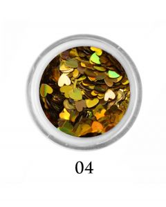 ADORE Декор для ногтей Сердце 04 (голографическое золото)