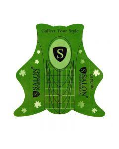 SALON Формы для наращивания ногтей 1 шт (зеленые).
