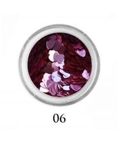ADORE Декор для ногтей Сердце 06 (розовый)