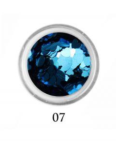 ADORE Декор для ногтей Сердце 07 (голубой)