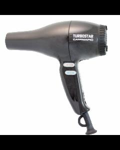 Фен GammaPiu Turbostar 1800 W, черный металлик