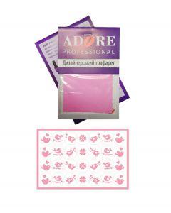 """ADORE дизайнерский стикер  S17 """"Птички"""" (розовый)"""