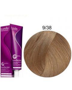 Стойкая крем-краска для волос Londa Professional 9/38 золотисто-жемчужный яркий блондин 60 мл