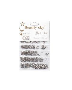 Стразы Beauty Sky Mix Crystal 1440 шт.