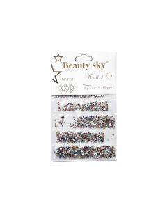 Стразы Beauty Sky Mix AB 1440 шт (разноцветные).