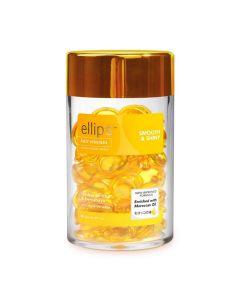 """Витамины для волос Ellips Smooth & Shiny -""""Роскошное сияние"""" с маслом Алоэ Вера, 50 капсул"""