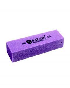 Бафик Salon Professional 240 грит - фиолетовый, брусок