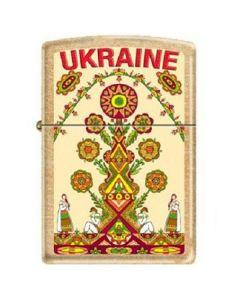Зажигалка Zippo 207G-UT UKRAINE TREE Зипо Зиппо Zipo кремний фитиль бензин